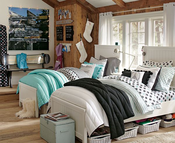 55 room design ideas for teenage girls for Unisex bedroom inspiration