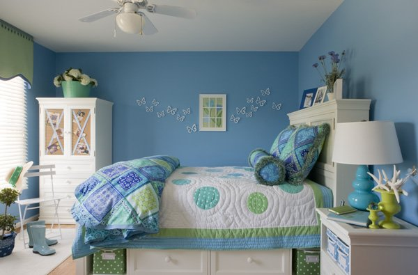 55 room design ideas for teenage girls Makeup room paint colors