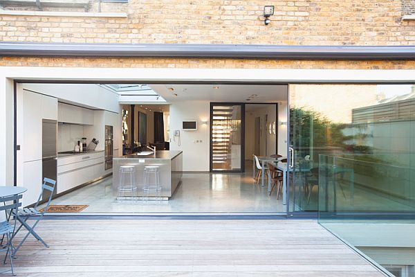 Contemporary London residence view