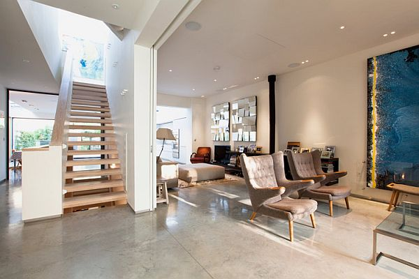Contemporary London residence for sale stairs