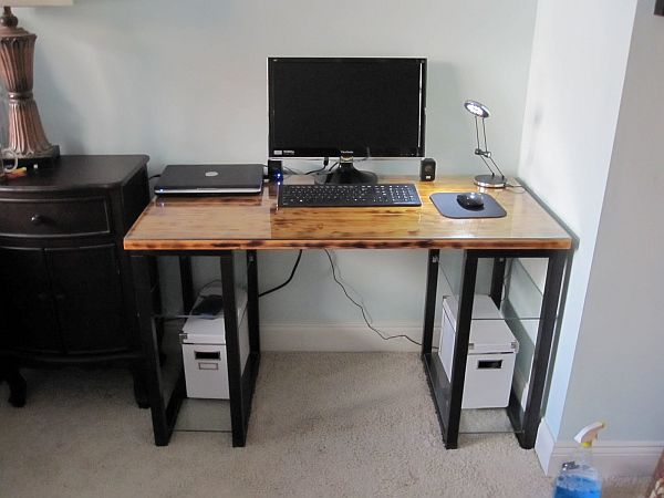 Eclectic DIY desk.