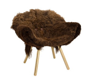 Wooly chair for cold winter days