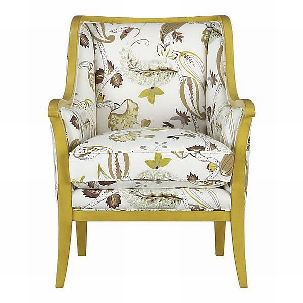 Cozy Carly Chair with botanical print
