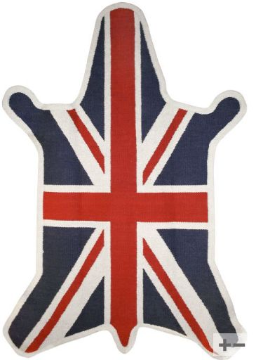 Zebra British Flag Rug