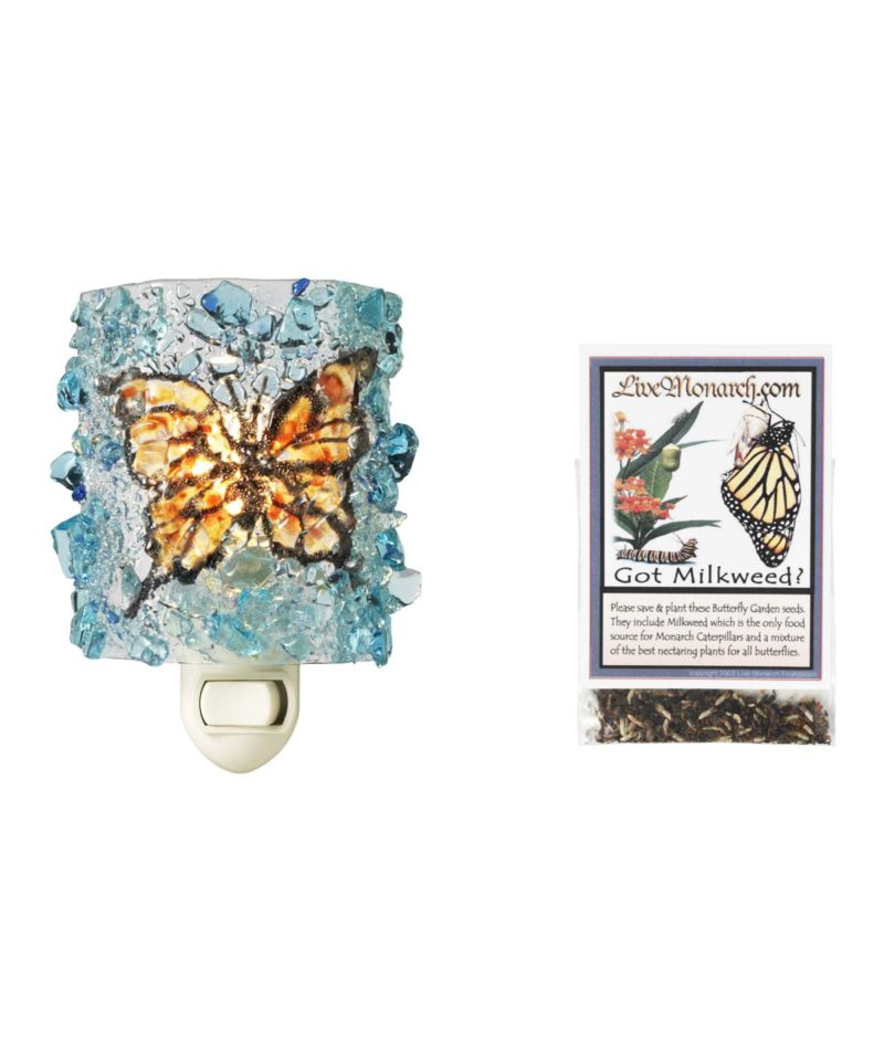 Recycled Glass Monarch Night Light