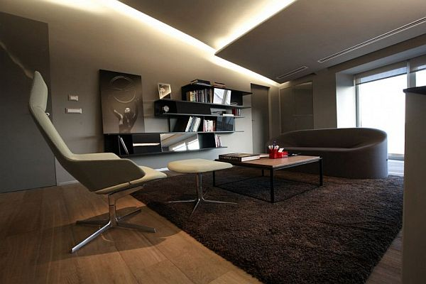 Contemporary office interior by tanju ozelgin for Director office room design