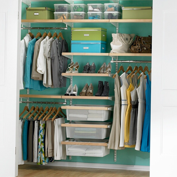 Birch White Elfa Decor Chic Reach In Closet