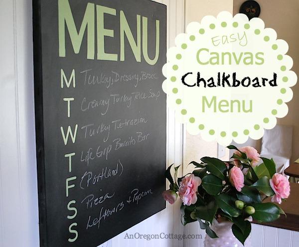 Canvas chalkboard menu