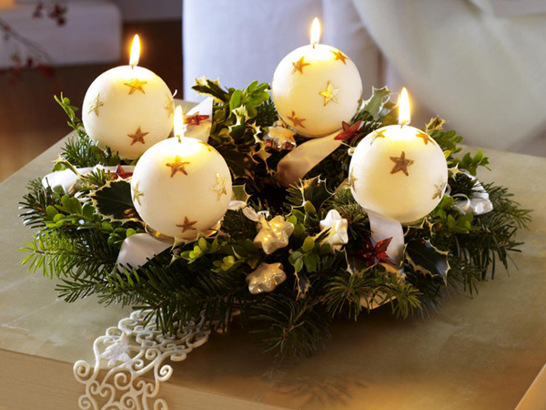 30 christmas candle decoration ideas for 2011 - Christmas Candle Decorations