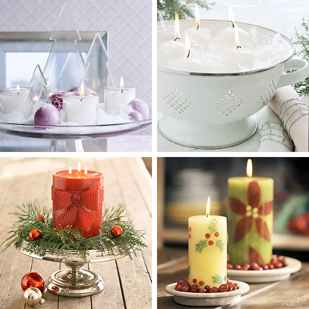 view in gallery - Christmas Candle Decorations