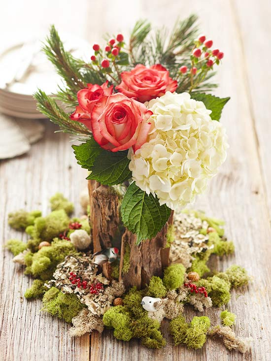 Floral Table Decorations For Christmas  Christmas Centerpieces Ideas7