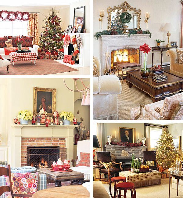 view in gallery - Images Of Fireplace Mantels Decorated For Christmas