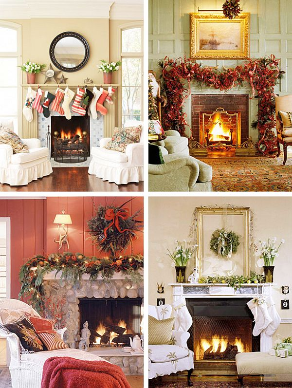 Super 40 Christmas Fireplace Mantel Decoration Ideas Home Interior And Landscaping Dextoversignezvosmurscom