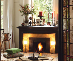 Elegant ... 40 Christmas Fireplace Mantel Decoration Ideas