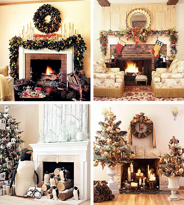 View in gallery - 40 Christmas Fireplace Mantel Decoration Ideas