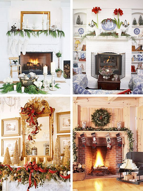 view in gallery - Mantelpiece Christmas Decorations