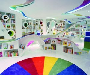 Expensive Luxurious Home Library · Colorful Poplar Library By Sako  Architects Home Design Ideas