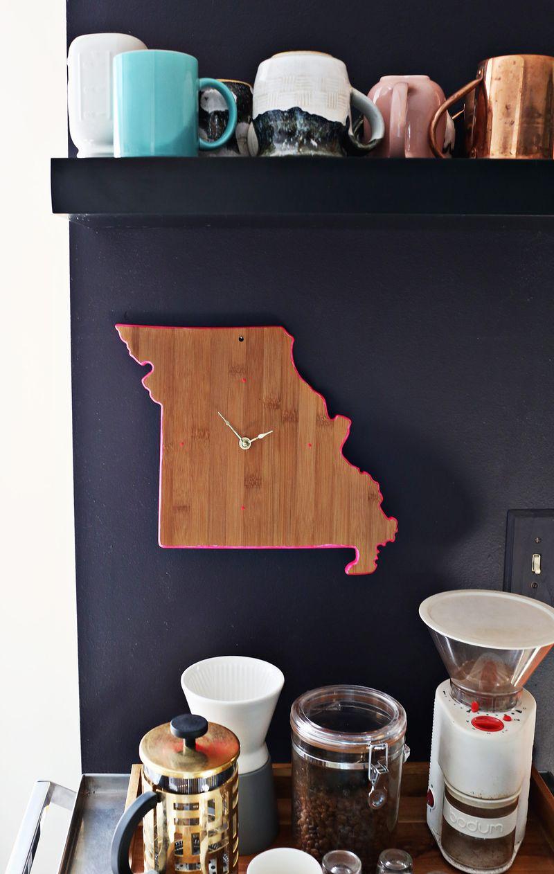 Cutting board wall clock