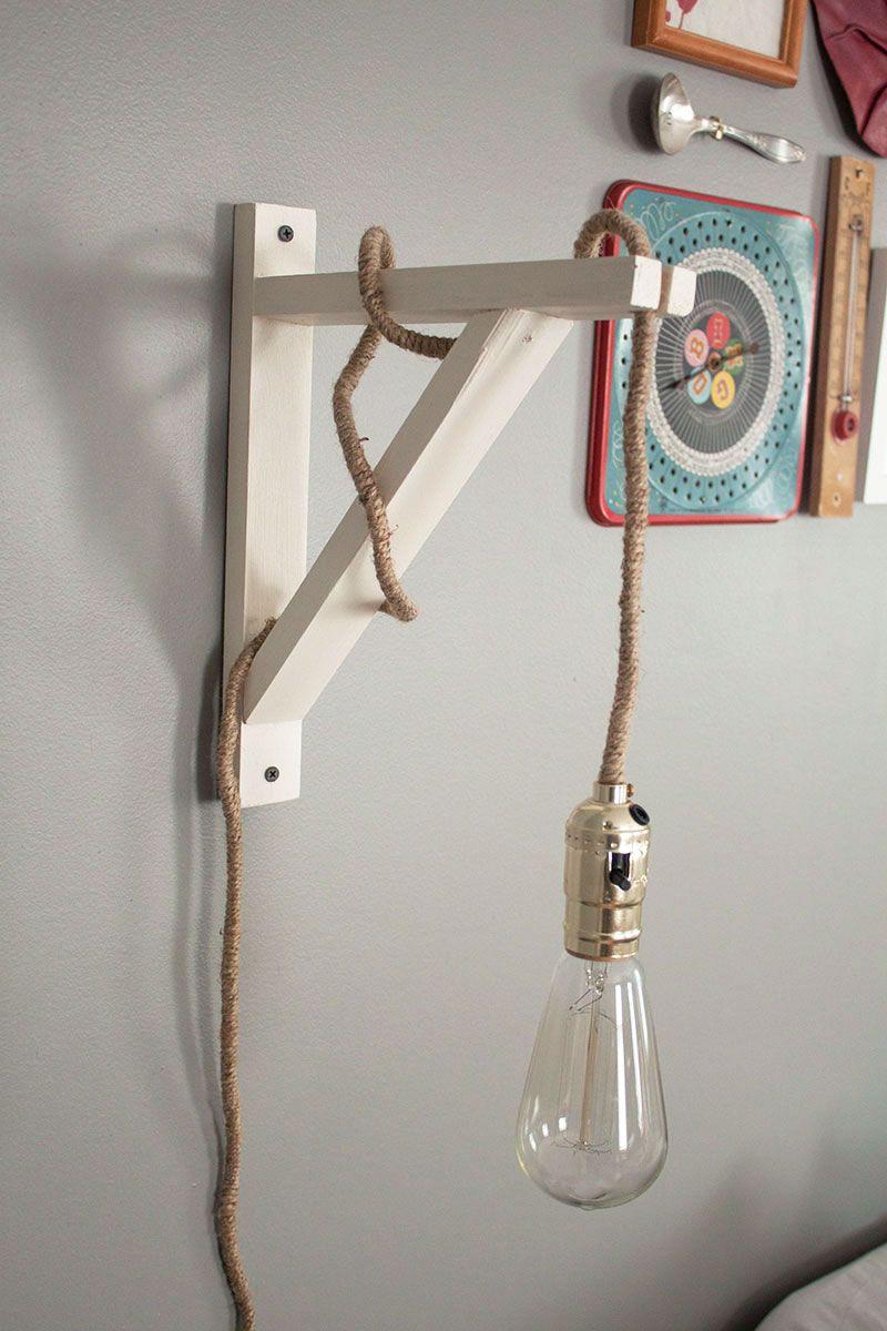 DIY wall Lamp under 40 dollars