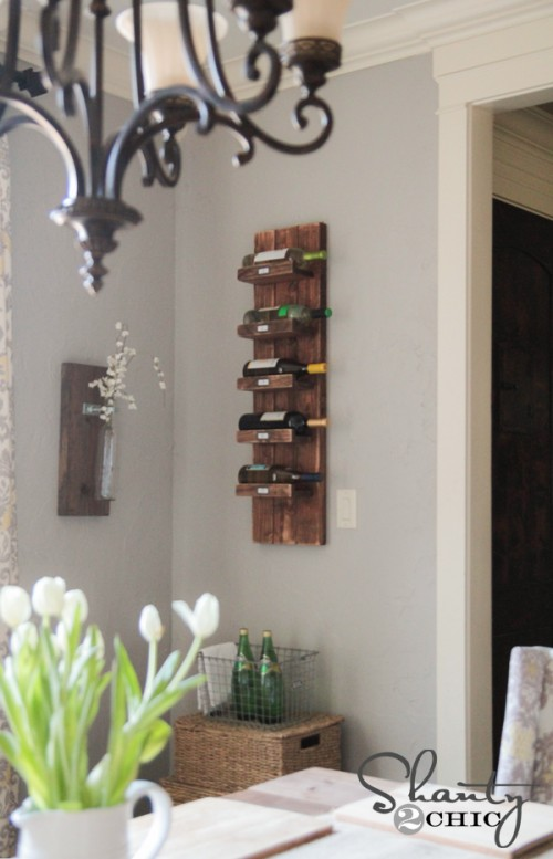 DIY wine Rack for wall