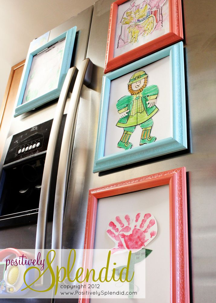 Fridge magnetic colorful frames