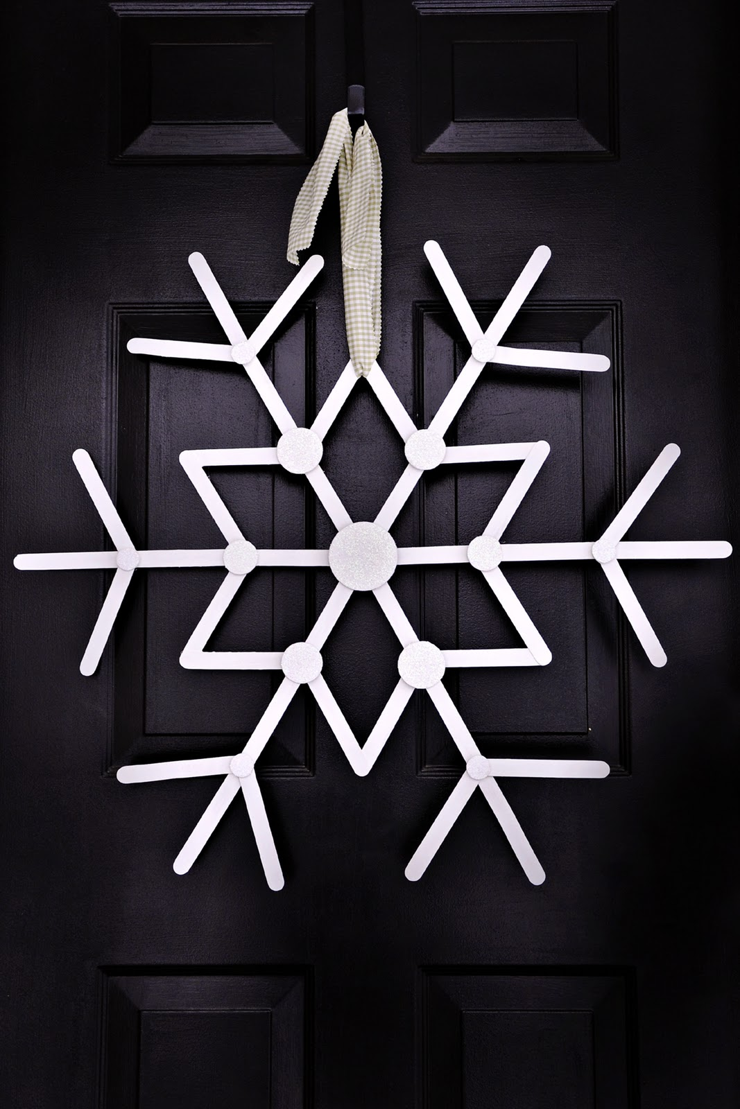 Front door giant snowflake