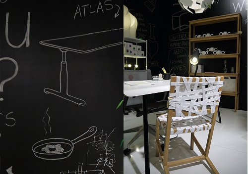 Creative Workspace With Blackboard Designed By Gispen Huiswerk