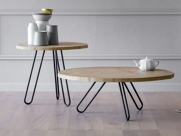 Hairpin legs low coffee table