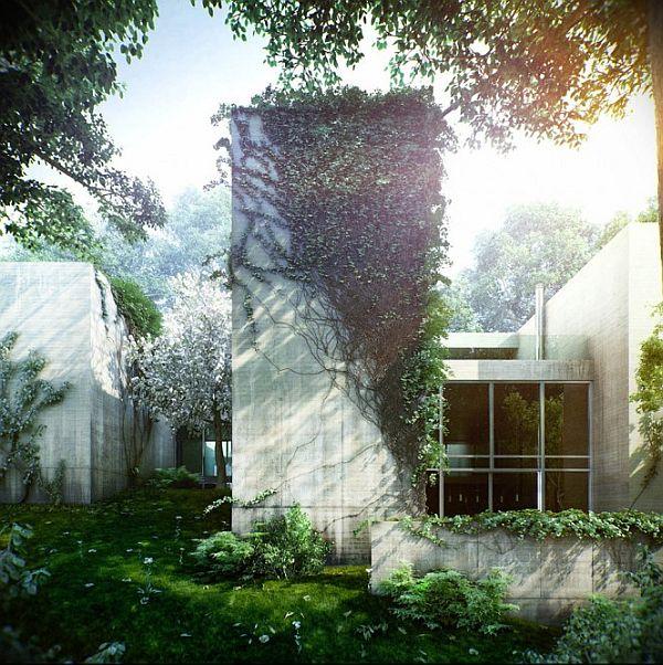 Concrete And Glass Facade
