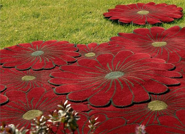 Joyful Layered Flowers Rug Collection By Piodao