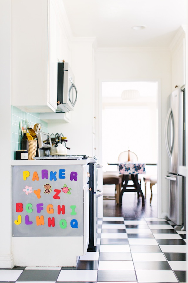 Letters magnetic play board