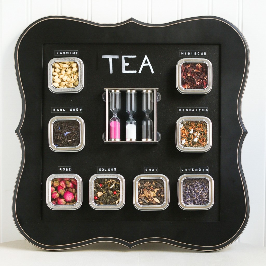 Magnetic tea chalkboard
