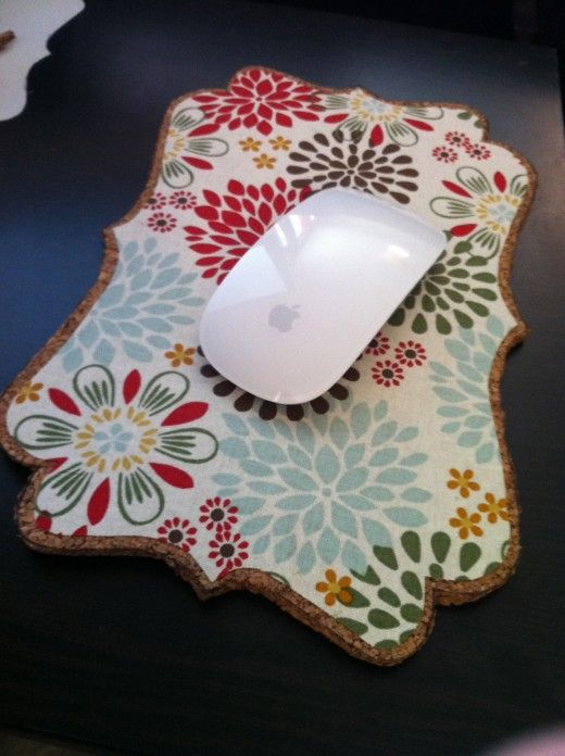 Make your own mouse pad from cork