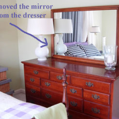 Before And After Mirror Decoration For The Dining Room