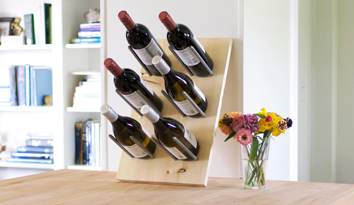 Modern wine rack for countertop