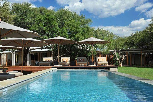 Morokuru Farm House in South Africa pool