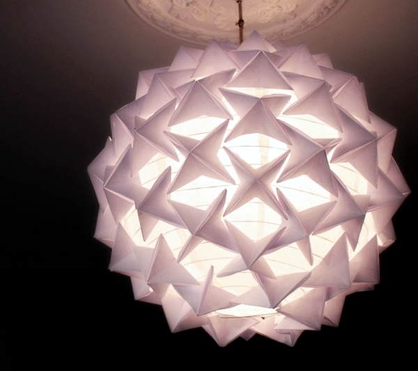 Origami lantern lamp
