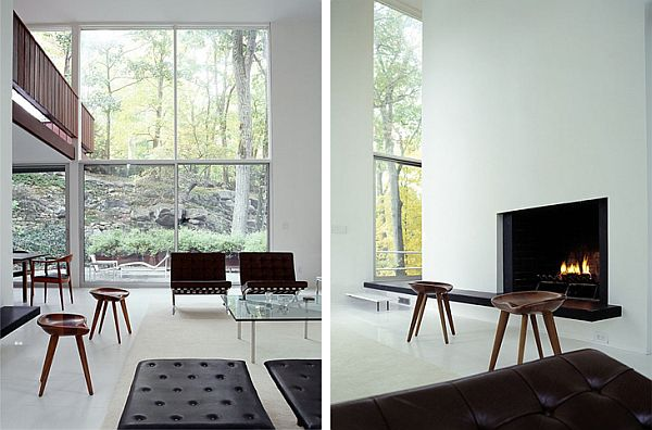 Renovated mid century modern house by bassam fellows - Mid century modern home interior design ...