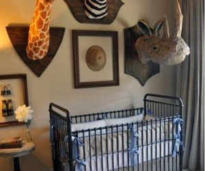Chic and fun safari nursery