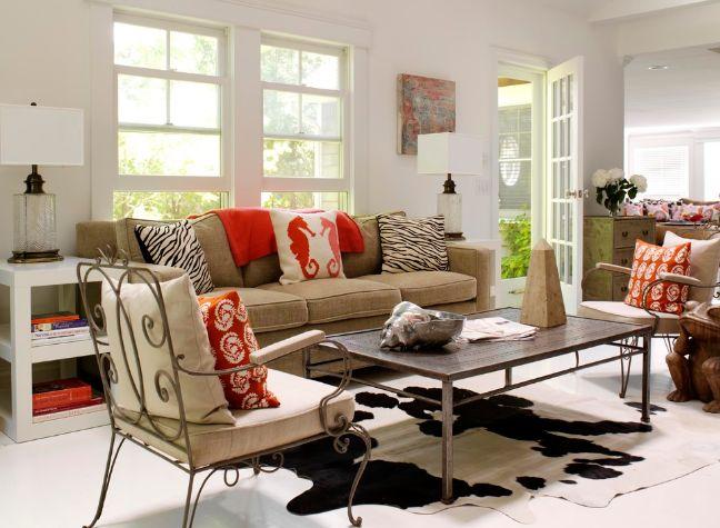 Simple living room sofa side table