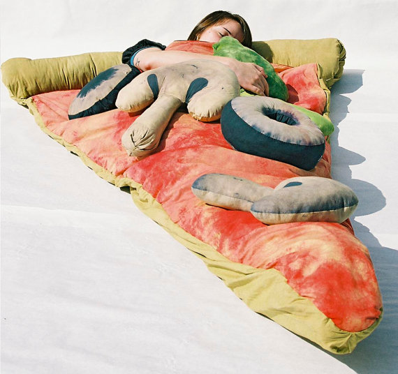 appetizing pizza sleeping bag. Black Bedroom Furniture Sets. Home Design Ideas