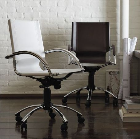timeless design 0dcd3 6d60e Elegant swivel leather desk chair