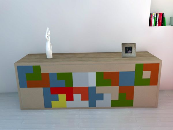 Tetris Inspired Sideboard