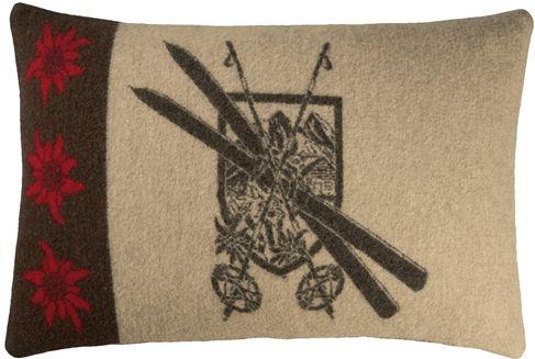 The Austrian Ski Chalet Pillow