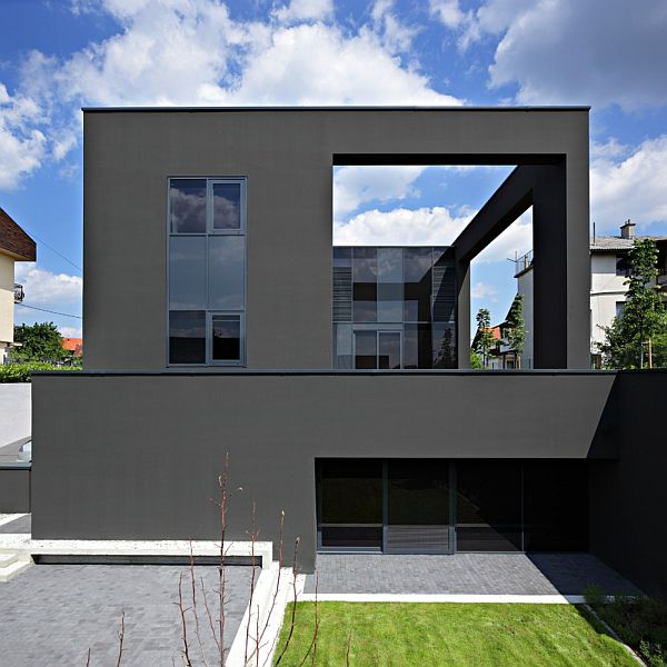Black House Facade in Zagreb