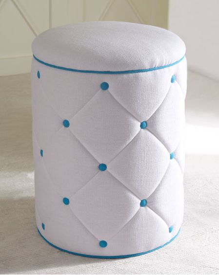 blue dots ottoman