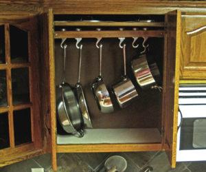 Practical DIY Cabinet Pan Rack