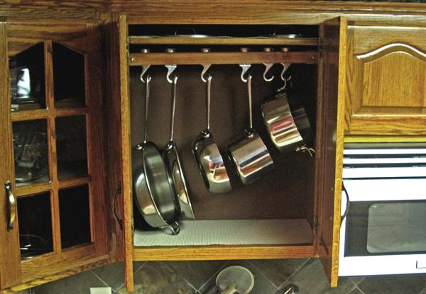 DIY Cabinet Pan Rack