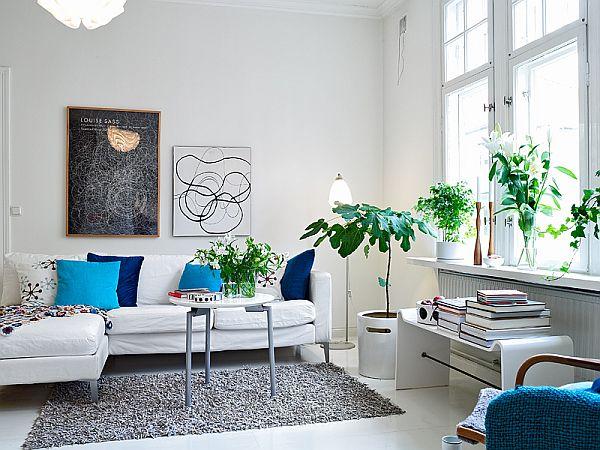 apartment in Sweden sofa