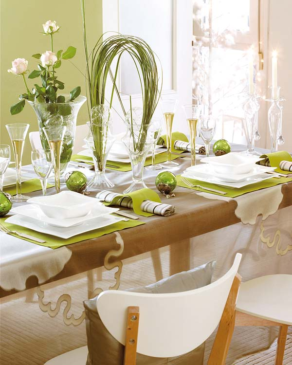 50 Christmas Table Decorating Ideas For 2011 - Decorating-ideas-dining-room